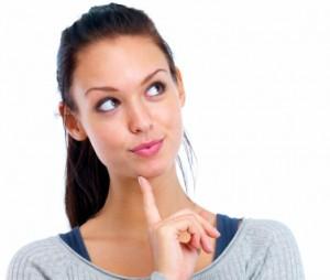 lady thinking about gluten free diet